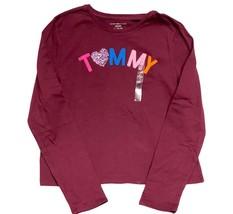 Tommy Hilfiger Kids T-Shirt Long Sleeve Girls Burgundy- XL - $29.99