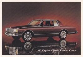 1980 ChevroletCaprice Classic LandauCoupe, Dealer Promo Postcard - $4.99