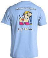 Puppie Love Rescue Dog Adult Unisex Short Sleeve Graphic T-Shirt, Floren... - $19.99
