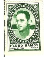 1961 topps baseball stamp pedro ramos minnesota twins vintage baseball card cuba - $4.99