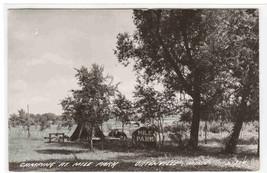 Camping Tent Truck Mile Park Ortonville Minnesota 1947 Real Photo RPPC p... - $6.93