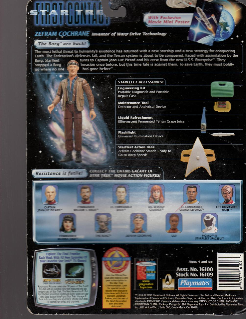 Star Trek - Zefram Cochrane  STAR TREK  First Contact