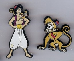Disney Aladdin and Abu Money  set of 2  UK plastic Pin/Pins - $29.02