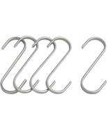 Butcher Hanging Hook S-Hook 4.25in 11cm 5-Pack Stainless - $6.39