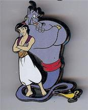Disney Aladdin &  the Genie Magic Lamp  UK plastic   Pin/Pins - $12.59