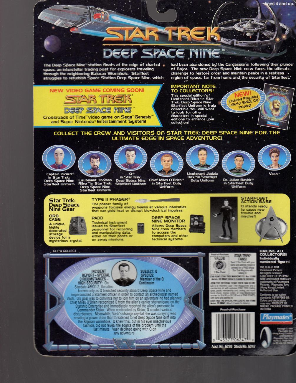 "Star Trek ""Q"" Star Trek Deep Space Nine"