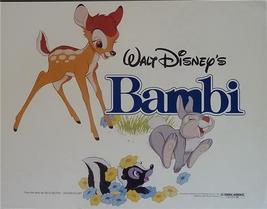 Disney Bambi Flower Thumper Movie  Bambi Lobby Card  Walt Disney Produciton - $39.99