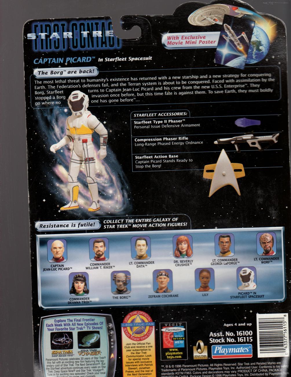 Star Trek - Captain Picard In Starfleet Spacesuit -Star Trek First Contact
