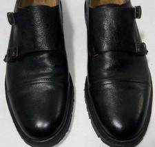Frye Mens Black 10.5M Double Monk Strap Cap Toe Double Buckle Dress Fomal Shoes  - $126.06