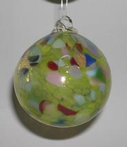 3 Inch Hand-Blown Art Glass Citrine Friendship Ball - $13.50