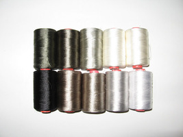 ~10 GREY TONE RAYON MACHINE EMBROIDERY THREAD BROTHER $50 value FREE SHI... - $14.99