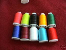 ~10  POLYESTER MACHINE EMBROIDERY THREAD BROTHER RAINBOW $70 value FREE ... - $23.39