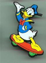 Disney Donald Duck Skate Boarding  UK plastic  Pin/Pins - $9.74