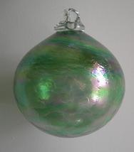 5 Inch Green Horizon Hand-Blown Art Glass Friendship Ball - $26.00