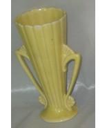 McCoy Yellow Double Handle Vase - $30.00