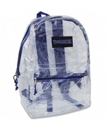 TRAILMAKER CLASSIC 17 INCH BLUE CLEAR BACKPACK NEW WITH TAGS - $12.99