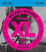 D'Addario EXL120+Electric Guitar Strings 9.5-44 Light set - $11.99