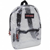 TRAILMAKER CLASSIC 17 INCH BLACK CLEAR BACKPACK NEW WITH TAGS - $12.99
