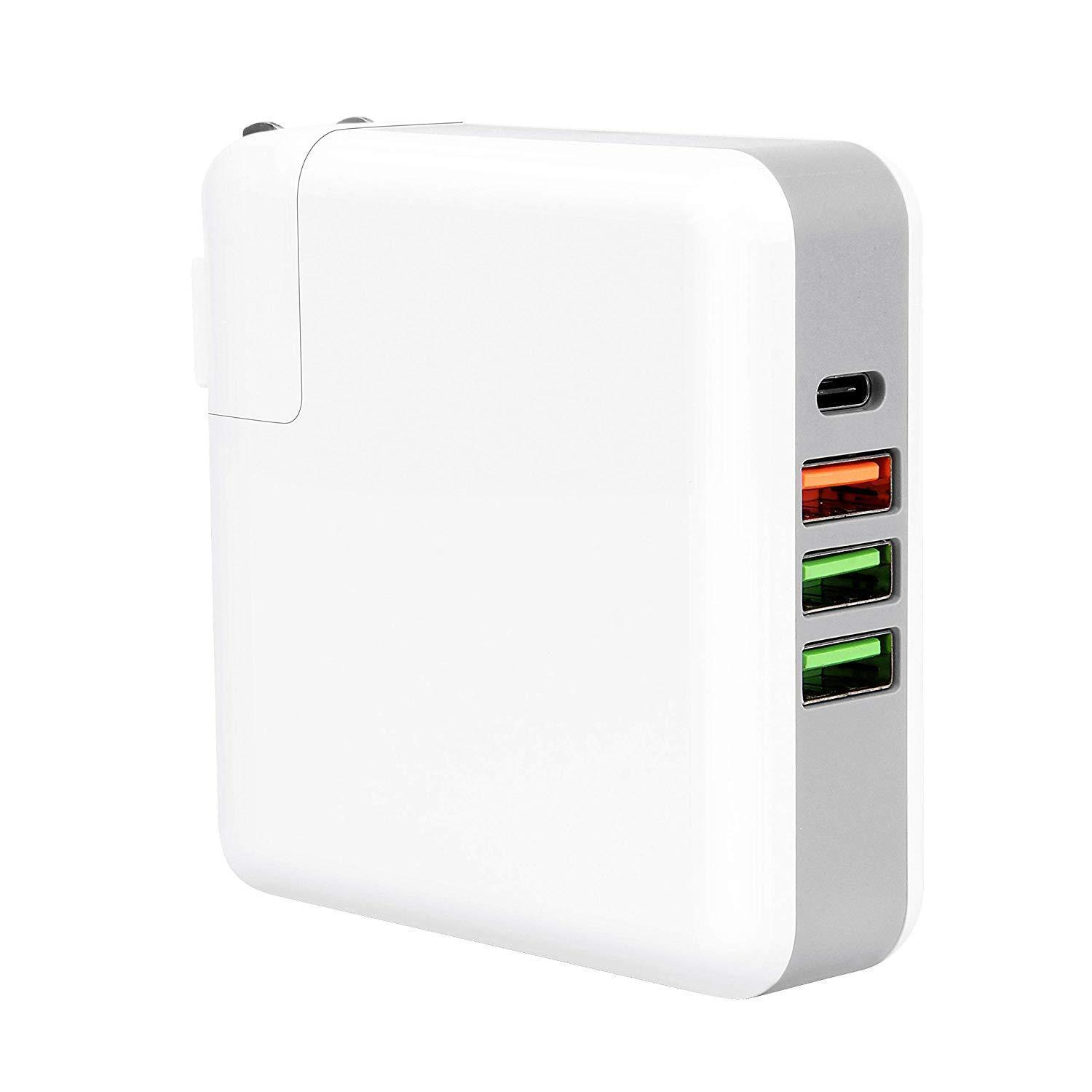 UrbanX 61W Type C PD Wall Charger with QC 3.0 Port and Dual 2.4A USB Ports