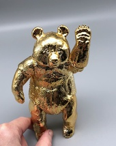 Sofubi Toy Box - Gold Panda (Rare Show Exclusive) image 5