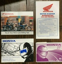 Honda 2001 SA50P Elite S Owner Manual, 2 Riding Tips Books, Warranty Book - $30.99