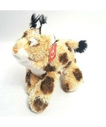 "Aurora Wold  Bobby Bobcat Spotted Wild Cat 11"" Stuffed Plush Toy With Tags - $13.96"