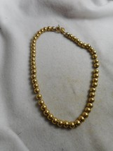 LAUREN BY RALPH LAUREN 7MM GOLD METALLIC BEAD S... - $23.00