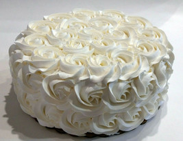 Large Ivory Wedding Rosette Fake Cake Display -Prop fake for home decor - $49.00