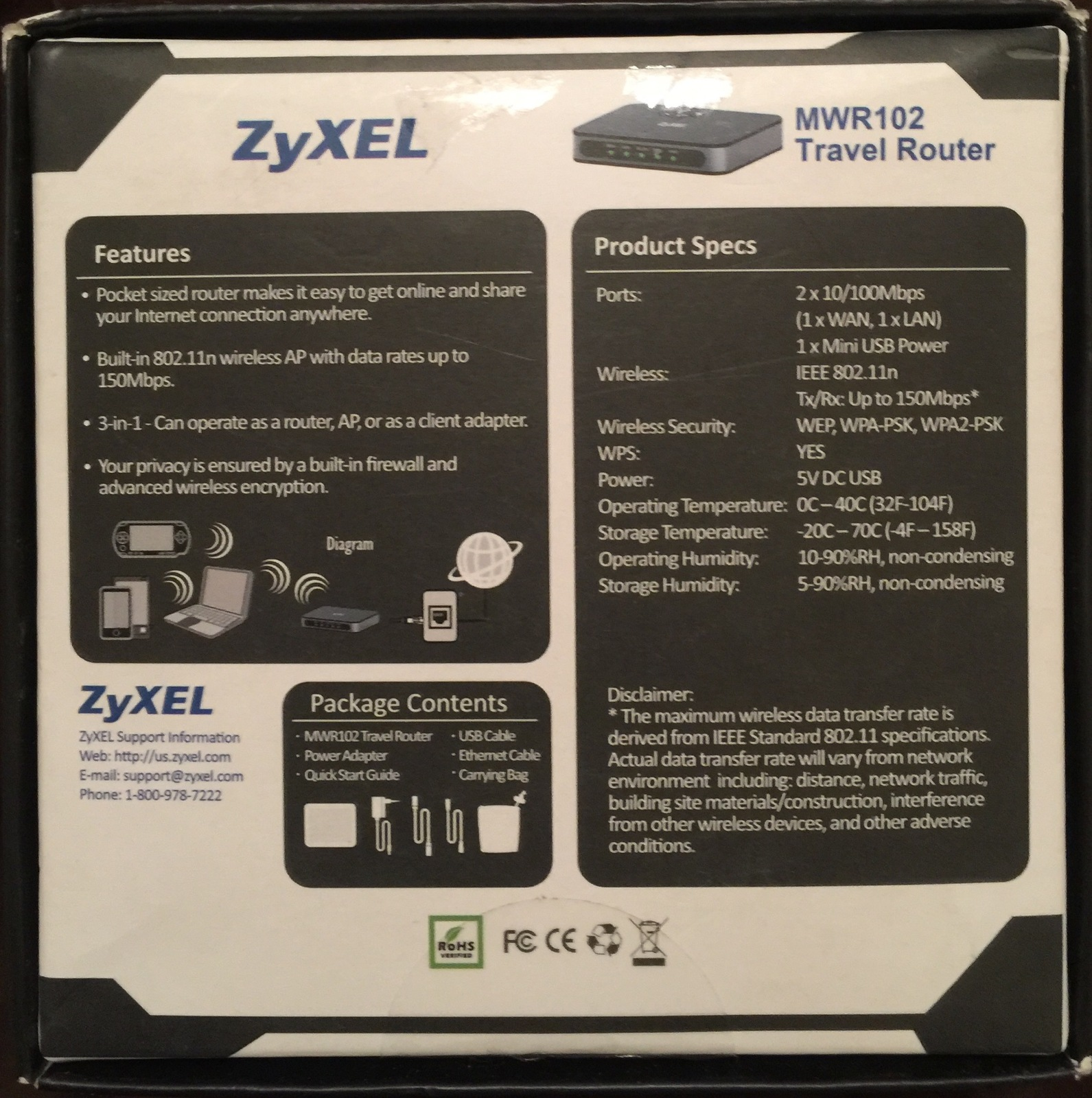 ZyXEL Wireless Pocket Router [MWR102] and 50 similar items