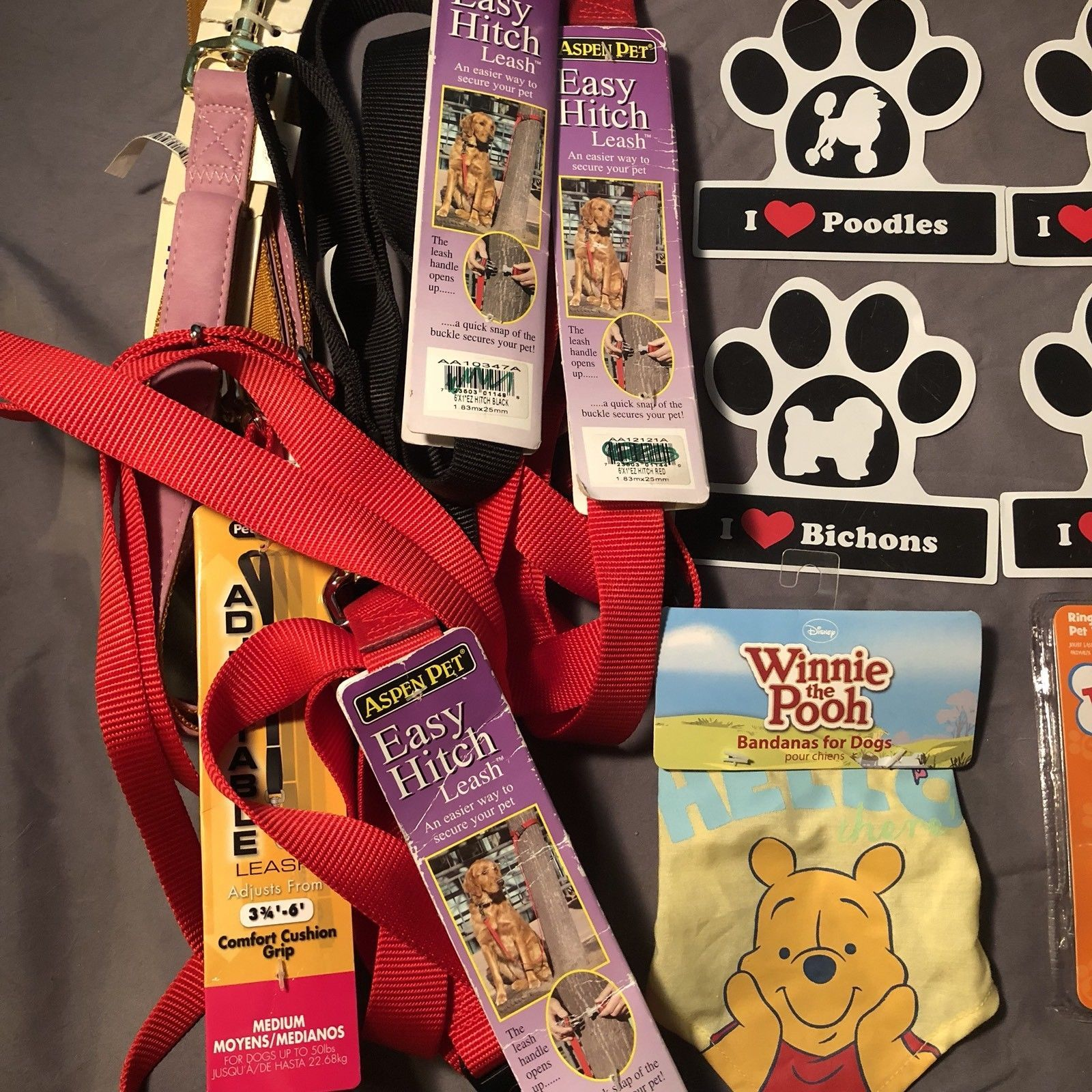 Miscellaneous Dog Cat Pet Lot of 18 Leashes Magnets Laser Toys Electronic Cat