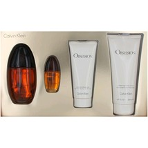 Calvin Klein Obsession 3.4 oz EDP Spray + 6.7 oz Lotion + .5 oz EDP + 3.4 oz SG image 2
