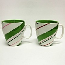 """Starbucks Coffee Company Lot (2) 12 Oz White """"Holiday 2007"""" Cups Candy Cane - $33.06"""
