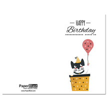 Cat In Box Birthday Card --- with Custom Handwritten Message - mailed to... - $2.23