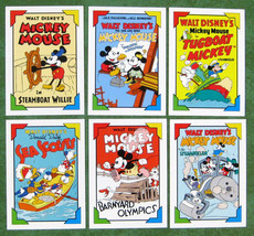Lot of 6 Disney Family Portraits SkyBox Trading Cards 100 101 102 103 10... - $1.50