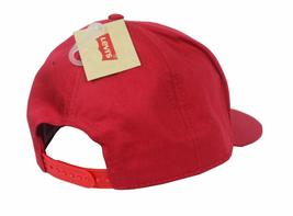 NEW LEVI'S MEN'S FLATBRIM WITH FELT EMBROIDERY BASEBALL SNAP BACK CAP HAT RED image 3