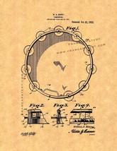 Tambourine Patent Print - $7.95+