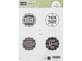 Stampin' Up! Tags 4 You Rubber Stamp Set #131823 - $11.99