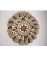 Vintage Boho Macrame Sun Wall Hanging Wreath 70's Fuzzy Fluffy - $59.99