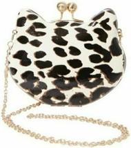 Betsey Johnson Hier Kitty Clutch Sich Umhängetasche Leopard Hartschale G... - $52.43 CAD