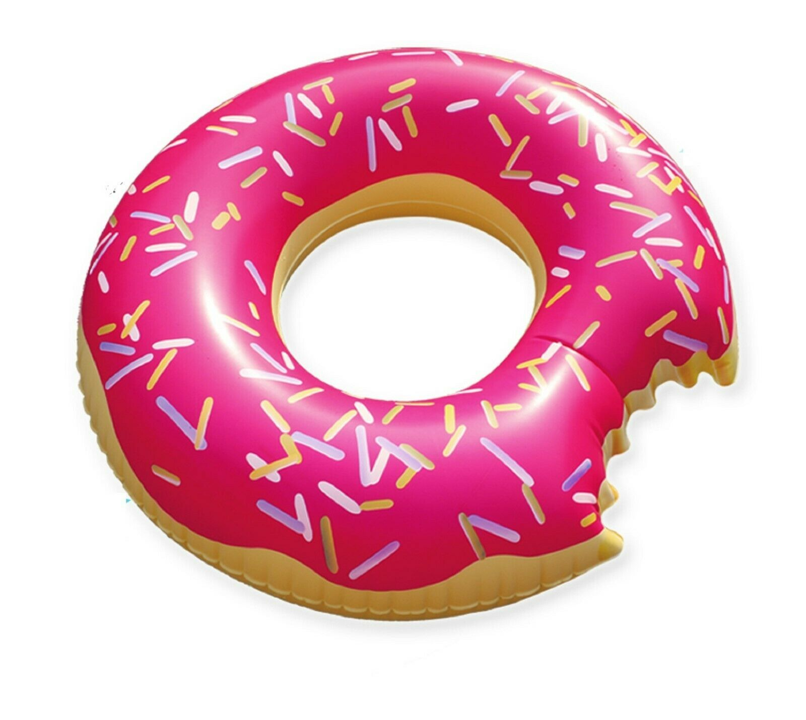 Swim About Large Donut Swim Ring Tube Pool Inflatable Floats for Adults (Pink)