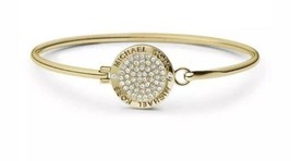 Michael Kors Heritage Status Logo Gold Tone Bangle Bracelet MKJ3559710 NWT - $43.66