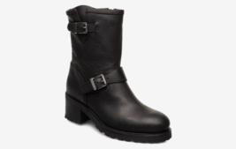 Polo Ralph Lauren BLACK Payge Vachetta Leather Boots, 9.5B NWOB - $296.01