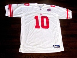 Eli Manning Super Bowl Xlii New York Giants Reebok On Field Game Jersey Size 56 - $118.79