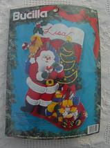 New Old Stock Vintage 1994 Bucilla Christmas Eve Christmas Stocking Kit  #83114  - $49.99