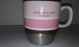 2007 Starbuck's collectible 10floz metal base ceramic top mug rose - $19.75