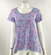 LuLaRoe Classic Top Sz Small Purple Pink Ballerina Print Short Sleeve Te... - $29.70