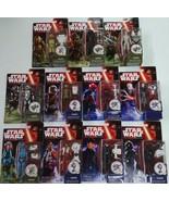 Lote 11 Star Wars el Despertar de la Fuerza 3.75 In Figura Space / Forest - $197.87