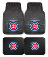 Chicago Cubs Car Mats 2Pc or 4 Pc Front & Rear Heavy Duty Vinyl - $35.99+