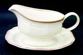 Mikasa Garden Club Gravy Boat With Underplate EC400 Japan Perfect Condit... - $15.88