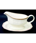 Mikasa Garden Club Gravy Boat With Underplate EC400 Japan Perfect Condition  - $15.88